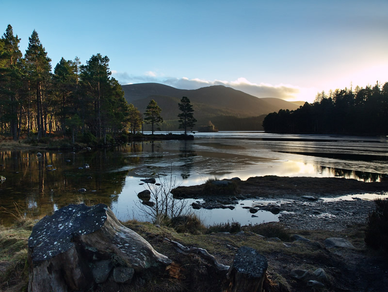 "photo ""Loch An Eilean"" tags: landscape, mountains, water"