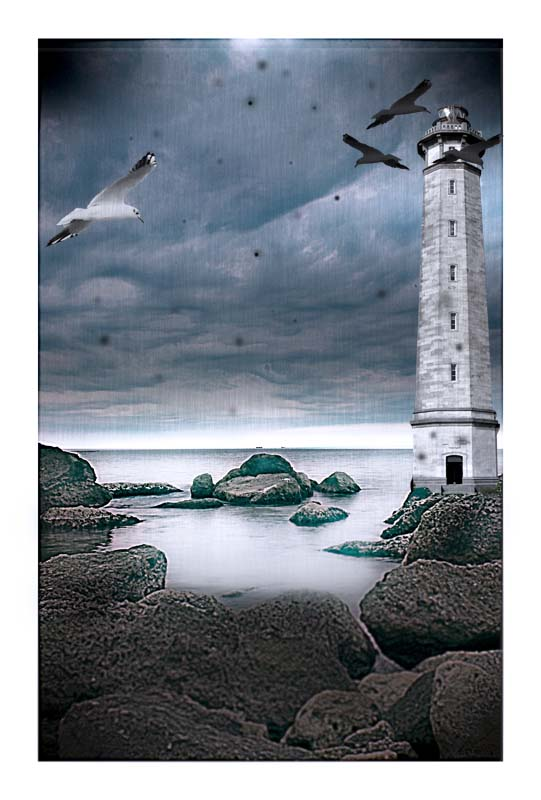 "photo ""light house dream"" tags: landscape, montage, water"