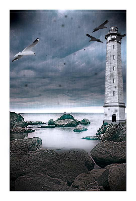 "фото ""light house dream"" метки: пейзаж, фотомонтаж, вода"