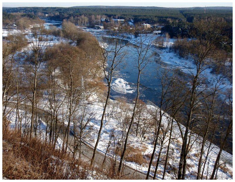 """фото """"дороги как реки...."""" метки: пейзаж, зима"""