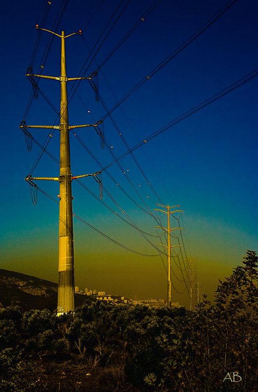 """фото """"Высокое напряжение"""" метки: пейзаж, закат"""