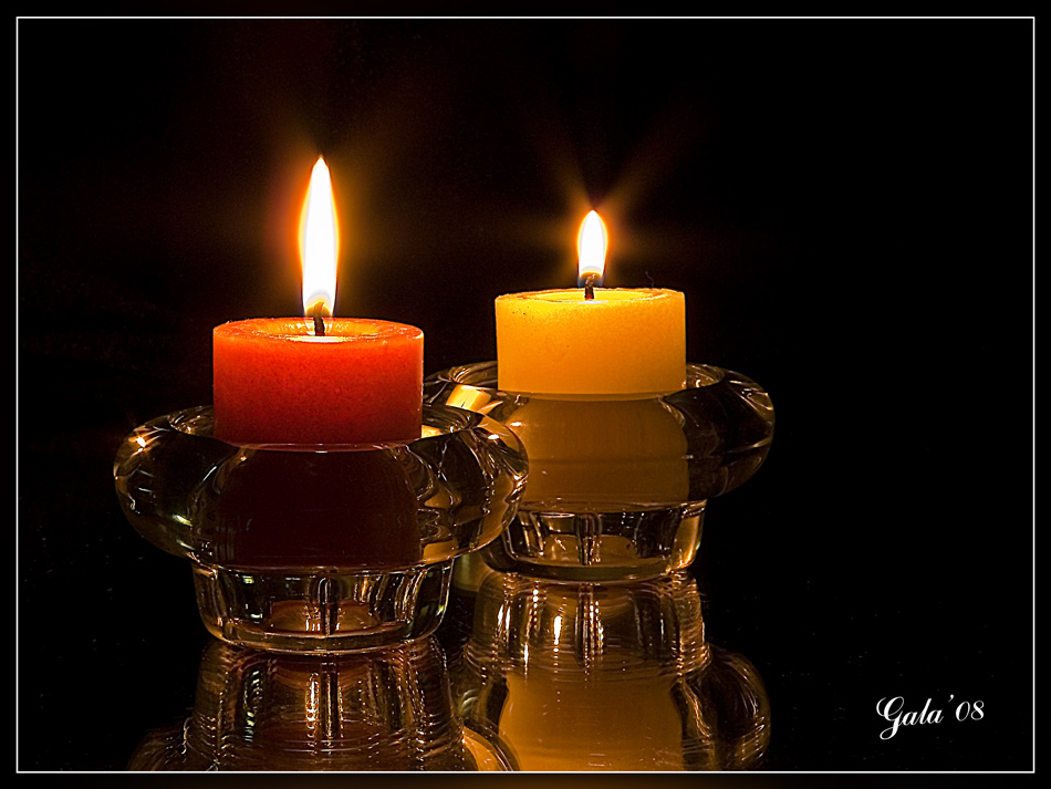 """photo """"Two candles"""" tags: still life,"""