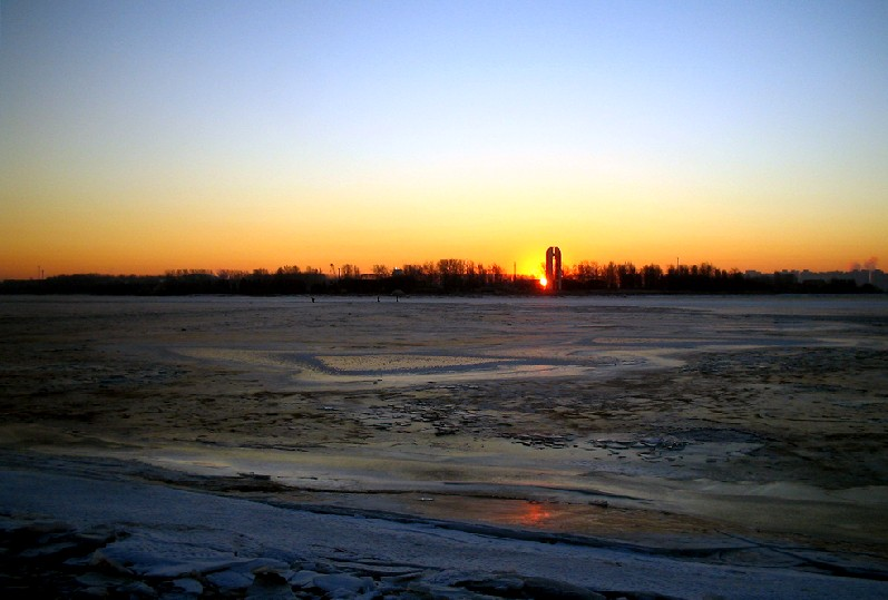 "photo ""The Morning of the New Year"" tags: landscape, sunset, winter"