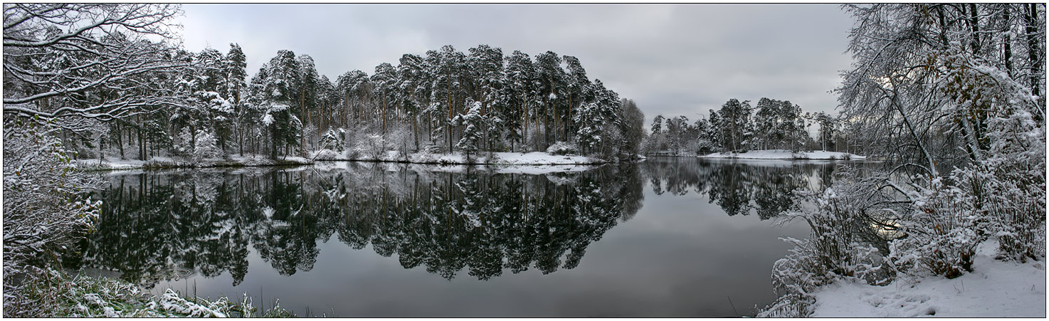 "photo ""Mirrors. please, move to the right"" tags: panoramic, landscape, winter"