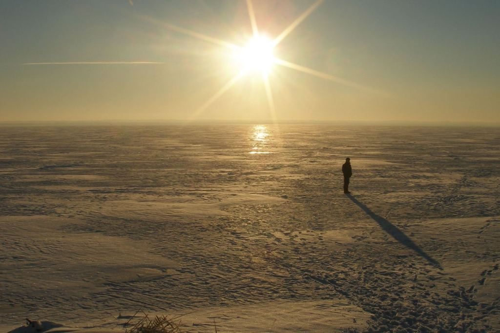 "фото """"ЖАРА..."""" метки: пейзаж, закат, зима"