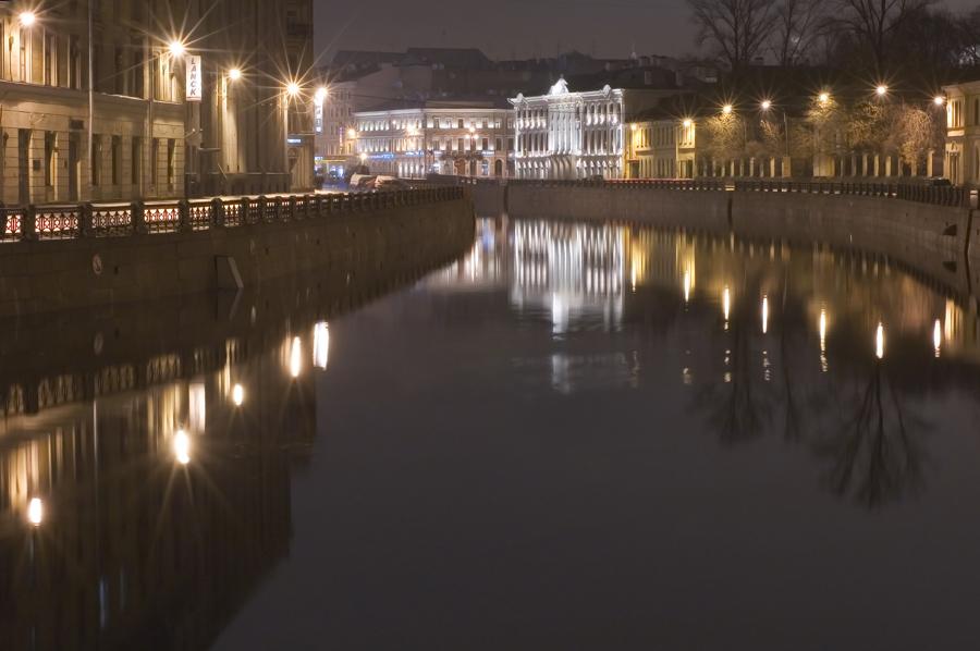 "фото ""Река Мойка. С Красного моста..."" метки: город,"