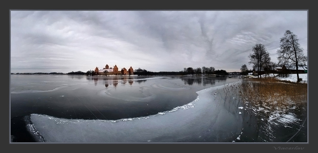 """photo """"Winter in Trakaj."""" tags: landscape, winter"""