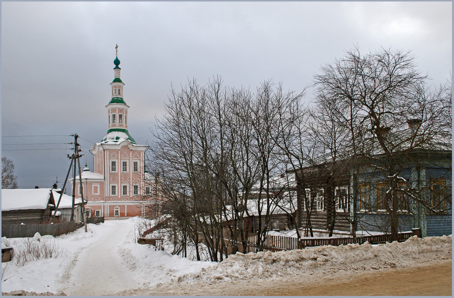 "photo ""Winter in the province"" tags: architecture, landscape,"