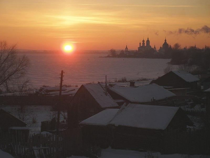 "photo ""Evening dawn"" tags: landscape, sunset"