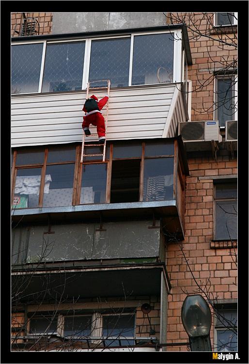 """фото """"Побег деда Мороза"""" метки: юмор,"""