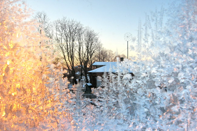 "фото ""Приятно думать у лежанки..."" метки: пейзаж, закат, зима"