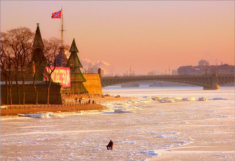 """фото """"Зимняя рыбалка"""" метки: пейзаж, город, зима"""