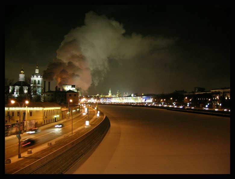 """фото """"Холодный зимний вечер на Устьинском мосту"""" метки: пейзаж, архитектура,"""
