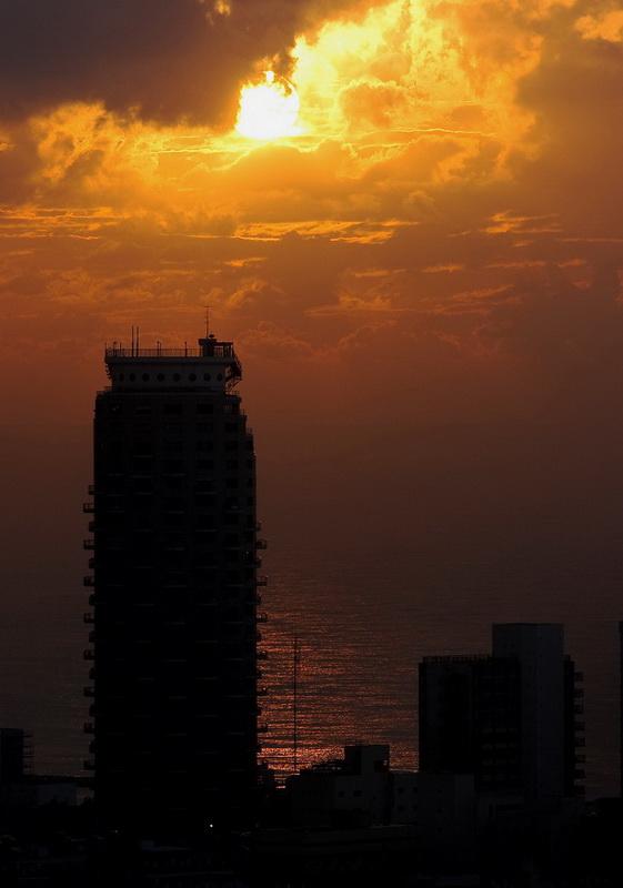 """фото """"Закат. Тель-Авив."""" метки: пейзаж, закат"""
