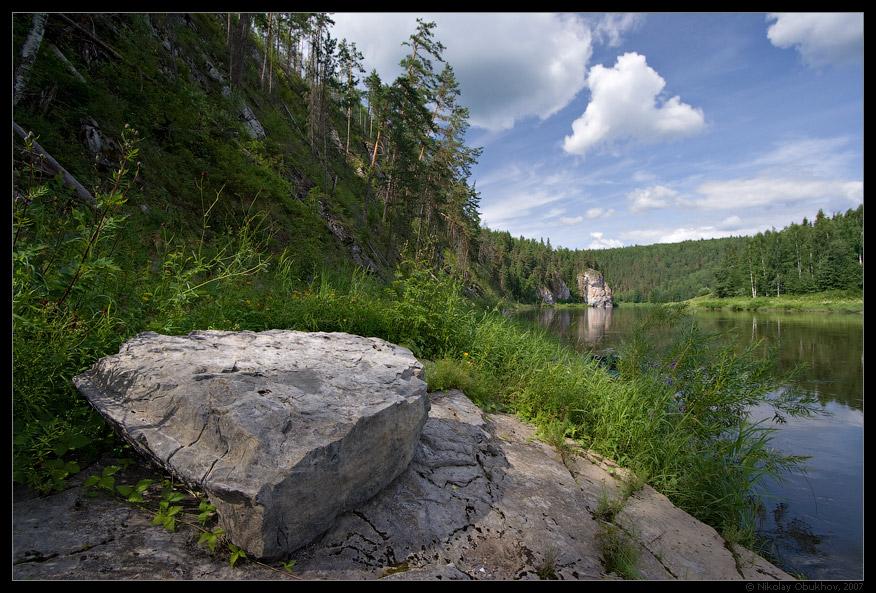 """фото """"Камень Сплавщик / 0174_0092"""" метки: пейзаж, горы, лето, скалы"""