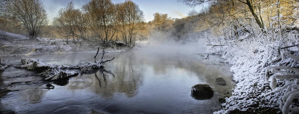 """фото """"Дед Мороз пришел"""" метки: пейзаж, вода, зима"""