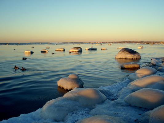 "photo ""Baltic Sea"" tags: landscape, water, winter"