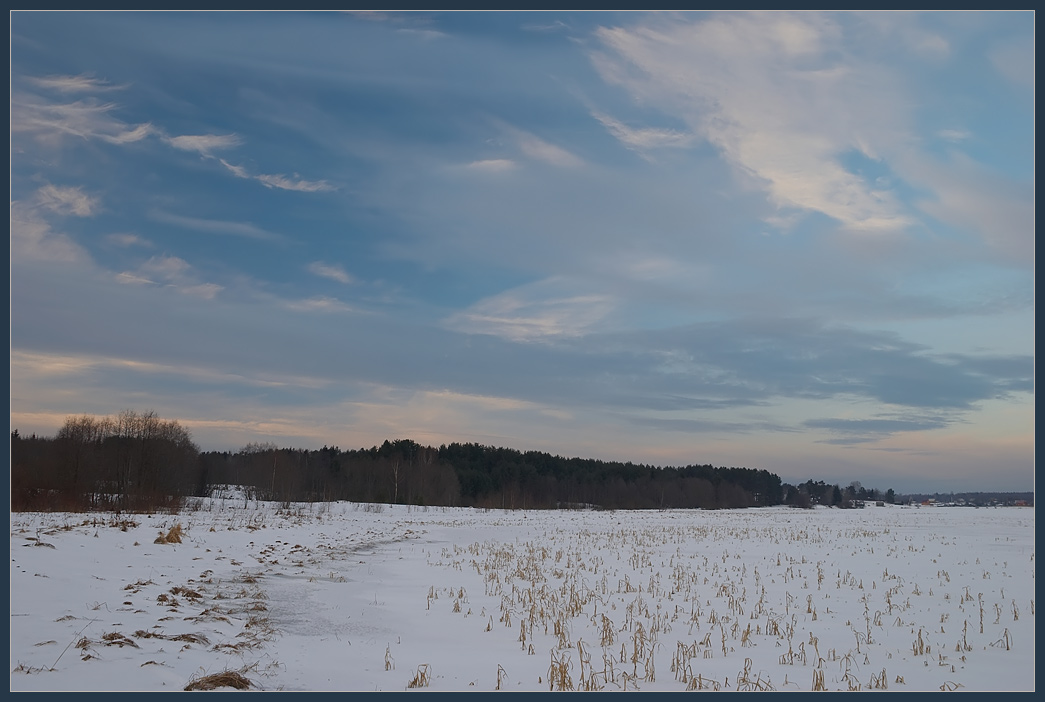 "photo ""Penorama 11"" tags: landscape, clouds, winter"