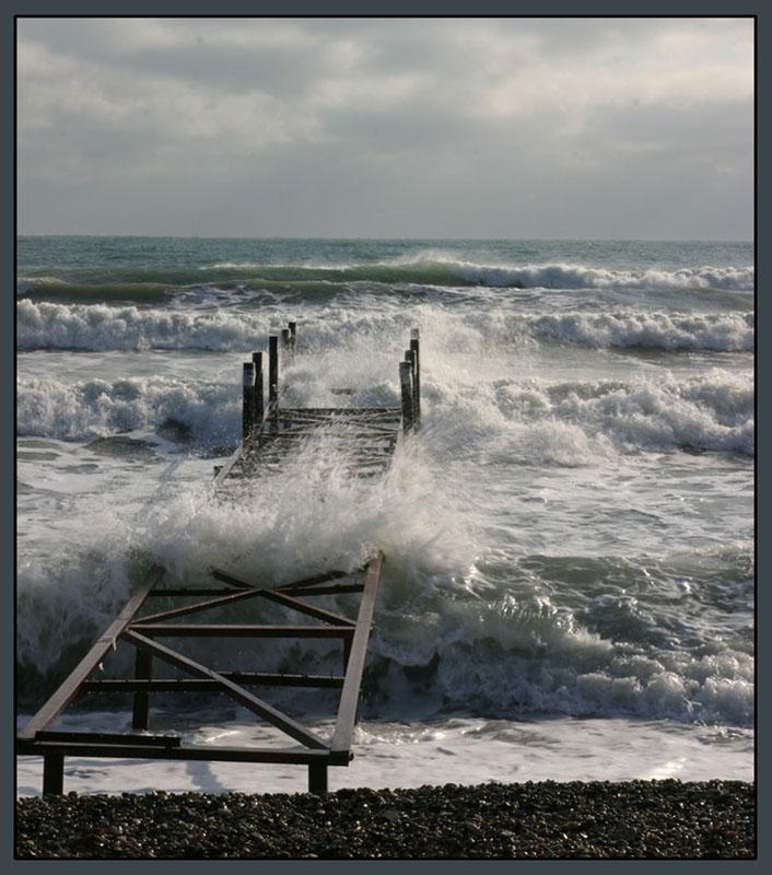 """фото """"Зимний шторм2"""" метки: пейзаж, вода"""