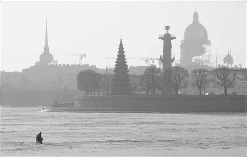 "фото ""Рыбалка"" метки: пейзаж, город, зима"