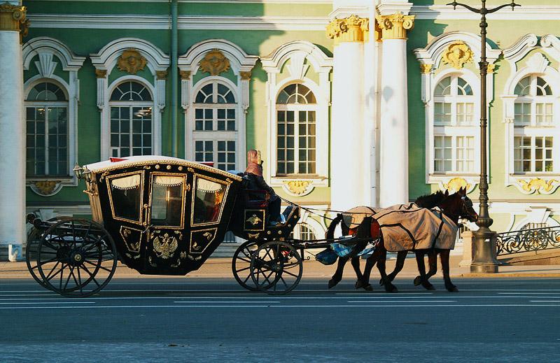 "фото ""Карета у Зимнего дворца"" метки: путешествия, Европа"