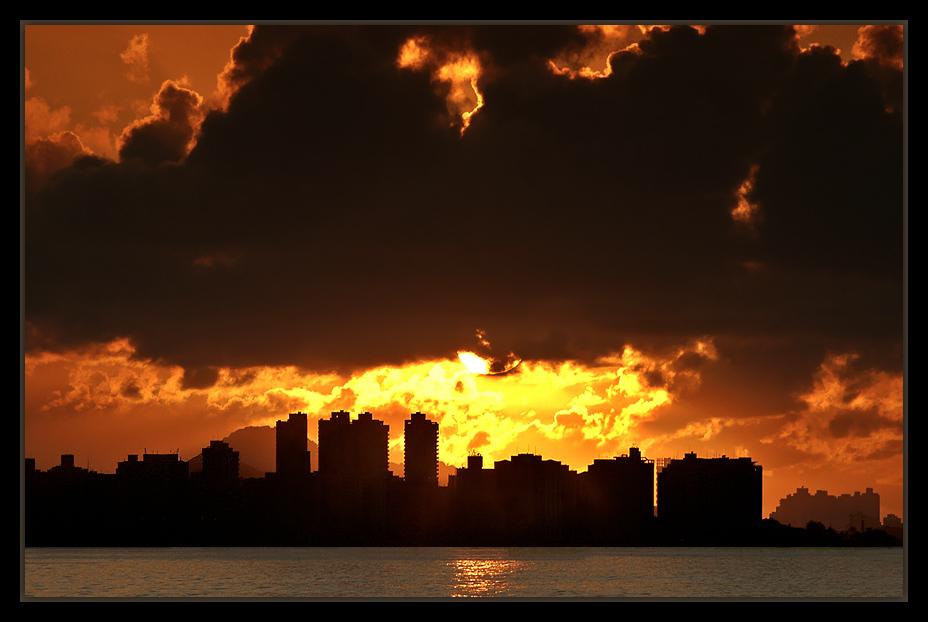 """фото """"Sunrise in Fire #2"""" метки: пейзаж, архитектура, закат"""