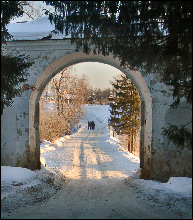 "photo ""Winter arch"" tags: landscape, winter"