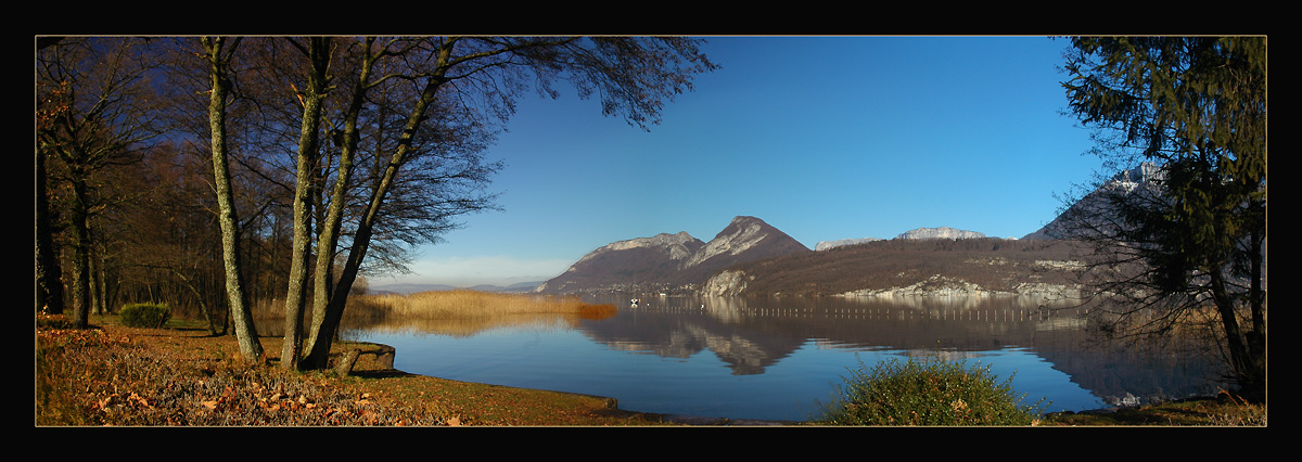"photo ""The Lake and  the Mountains"" tags: panoramic, landscape, winter"