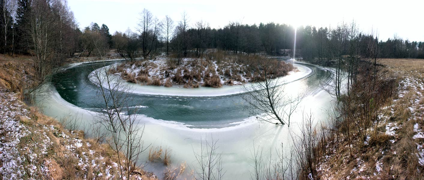 "photo ""Bend"" tags: panoramic, landscape, winter"