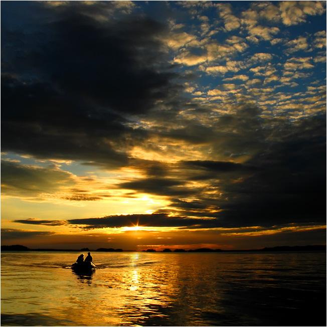 "фото ""Домой..."" метки: пейзаж, закат"