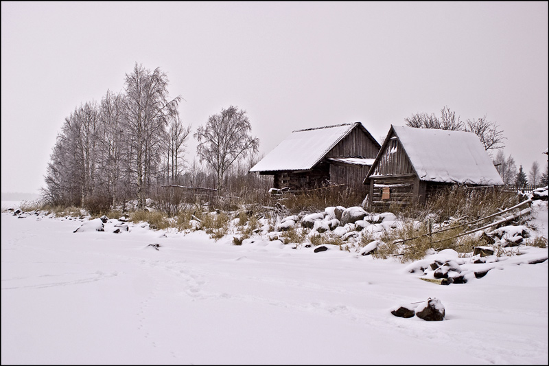 "photo ""Rouga village"" tags: landscape, architecture, winter"