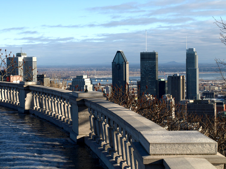 "photo ""Montreal. January"" tags: architecture, landscape,"