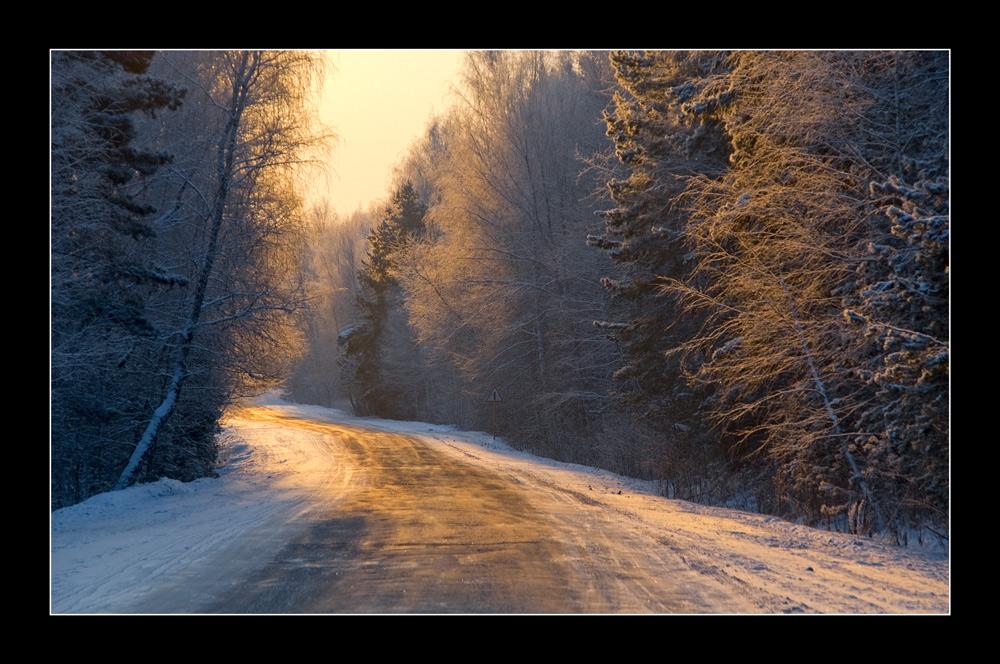 """фото """"Поворот к солнцу"""" метки: пейзаж, зима"""