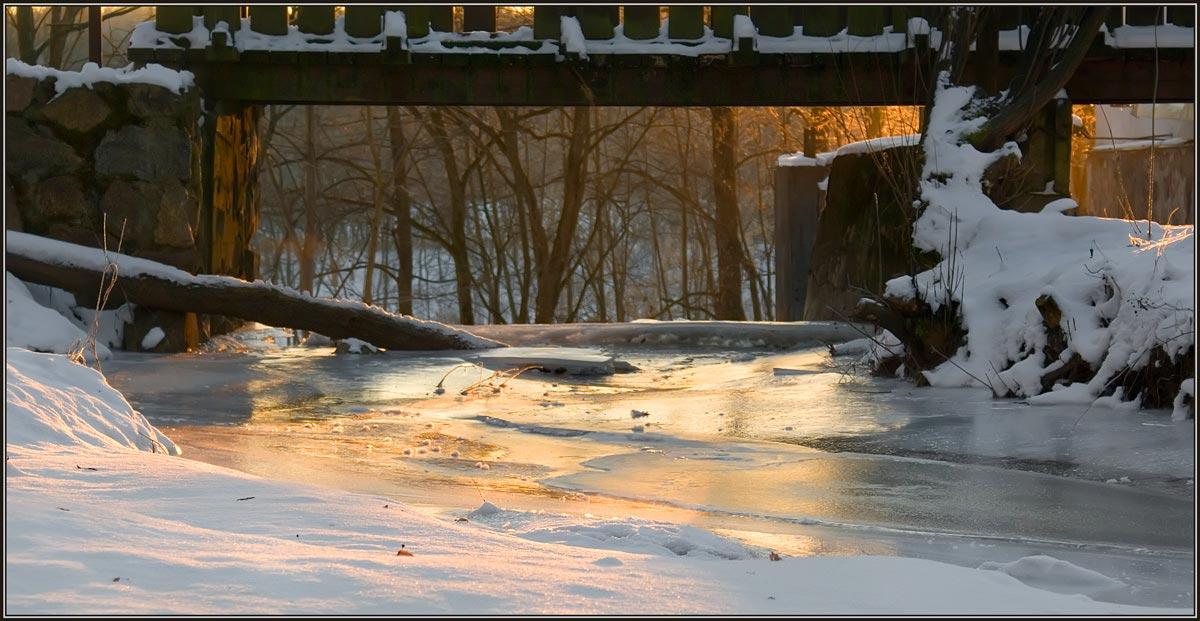 """photo """"Frozen flow"""" tags: landscape, winter"""