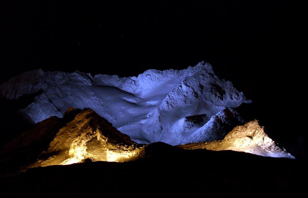 """фото """"Aiguille de Peclet 3562"""" метки: пейзаж, горы, ночь"""