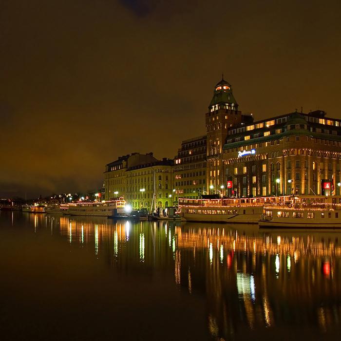 "фото ""Стокгольм, набережная, вечер"" метки: архитектура, путешествия, пейзаж, Европа"