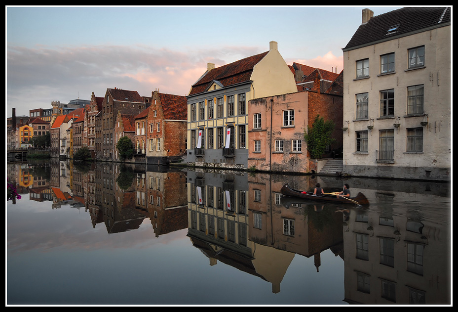 "photo ""Mirrored Ghent"" tags: city,"