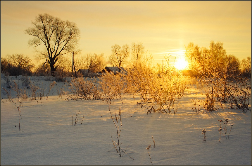 "photo ""winter morning II"" tags: landscape, sunset, winter"