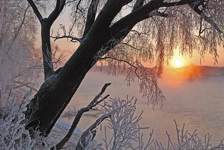 """фото """"Что не дает спать #."""" метки: пейзаж, закат, зима"""
