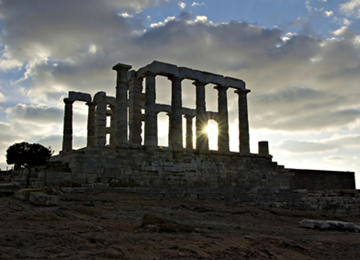 "photo ""The temple of Poseidon"" tags: architecture, landscape,"