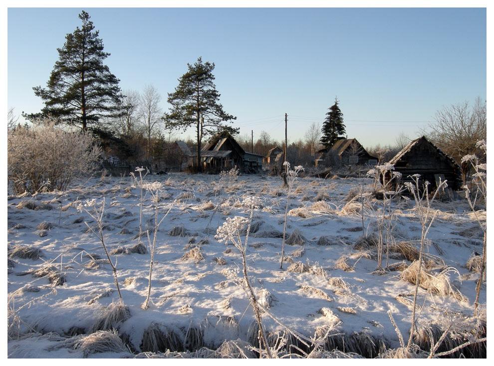 """фото """"Деревенька."""" метки: пейзаж, зима"""