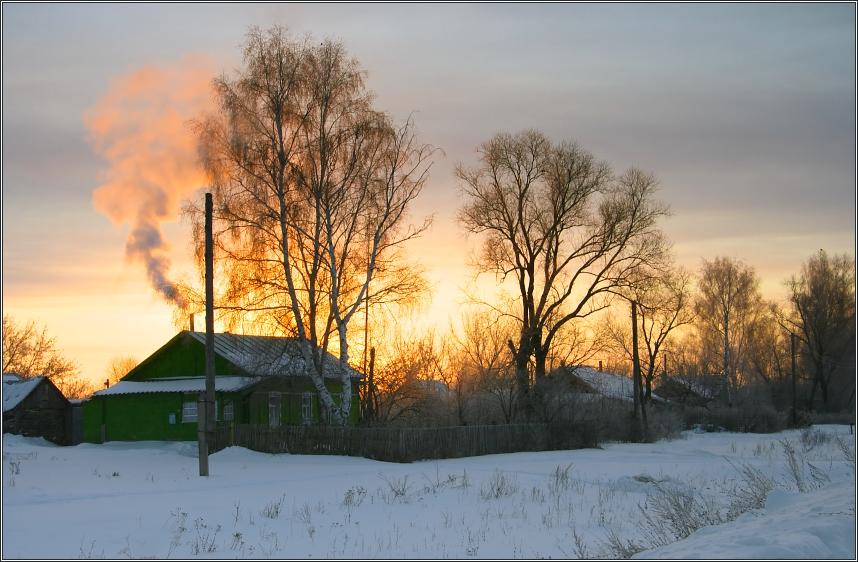 "photo ""winter morning III"" tags: landscape, sunset, winter"