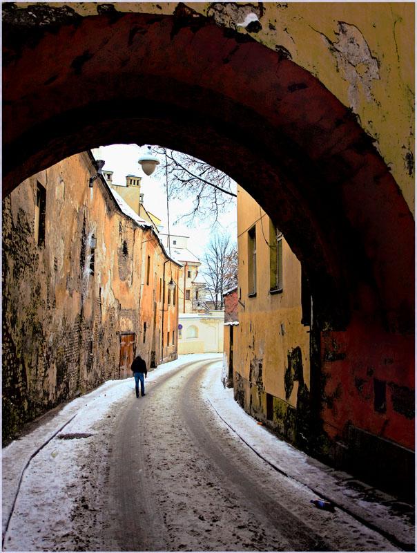 "фото ""Зима в старом городе"" метки: архитектура, пейзаж,"