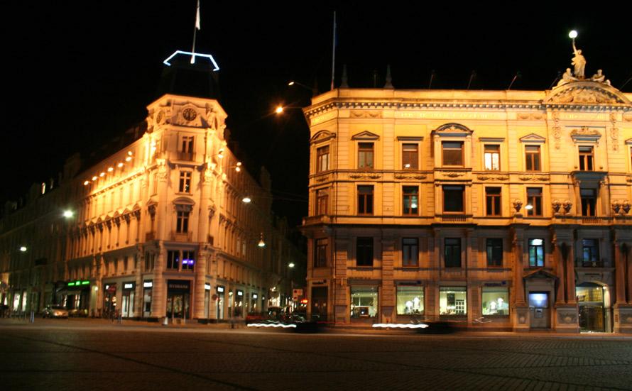 "photo ""Centrum nigth"" tags: landscape, night, winter"