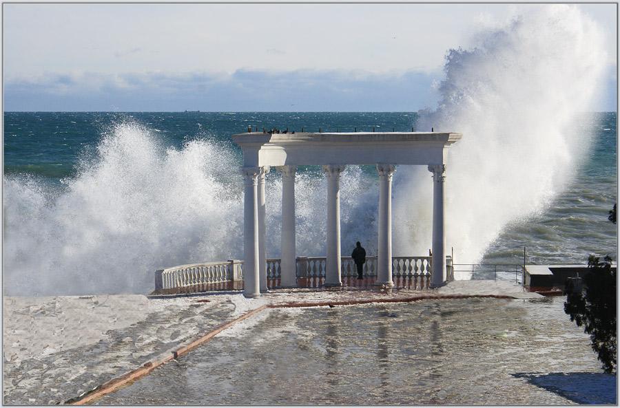 """фото """"Новогодний шторм"""" метки: пейзаж, вода"""