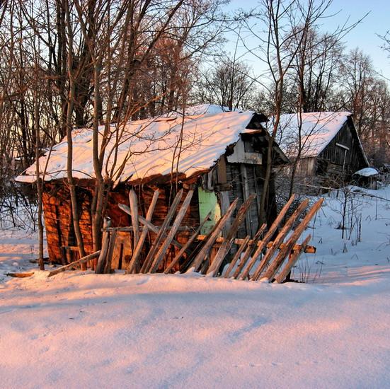 """фото """"Сельская метафизика. Мёртвый сезон."""" метки: пейзаж, зима"""