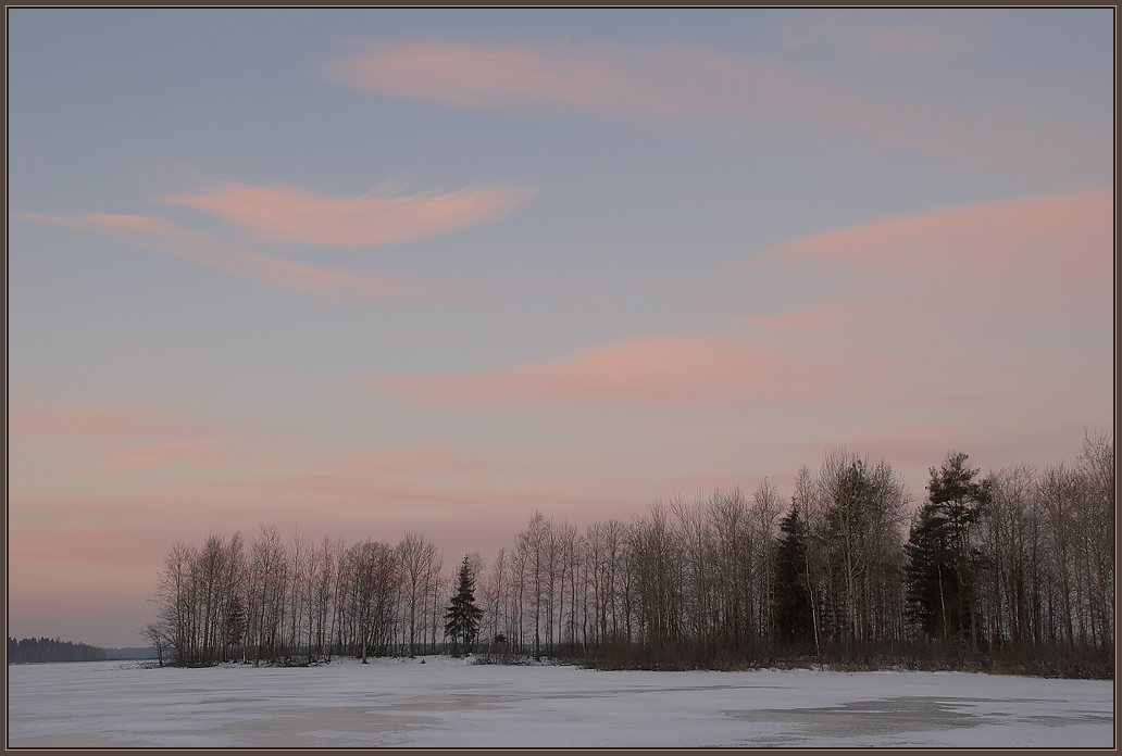 "photo ""The feather."" tags: landscape, sunset, winter"