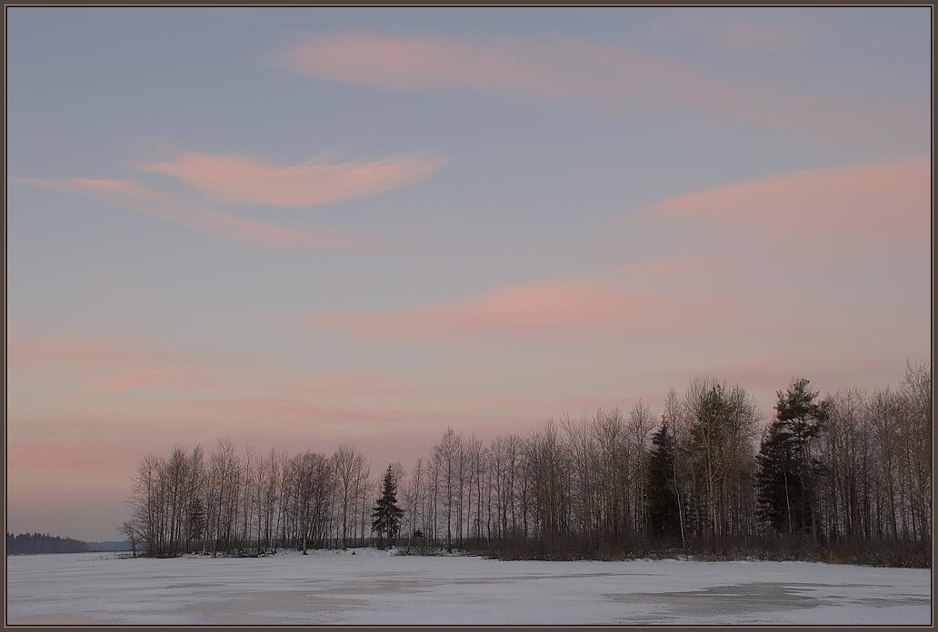 "фото ""Пёрышко."" метки: пейзаж, закат, зима"
