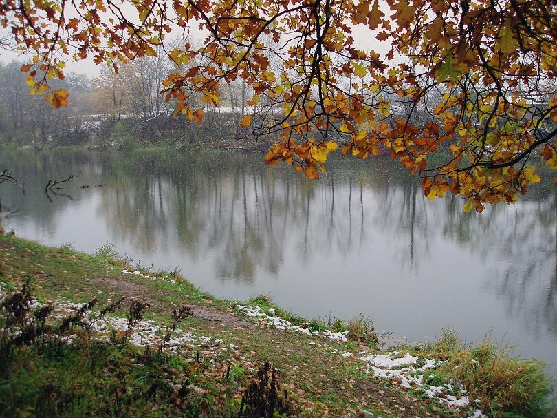 """фото """"Еще раз про первый снег"""" метки: пейзаж, вода, осень"""