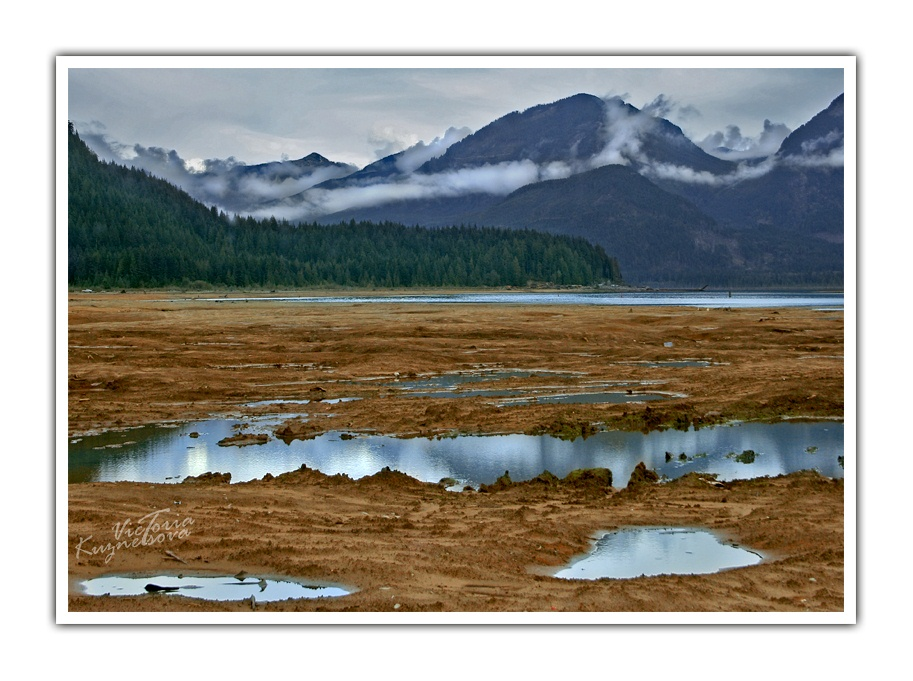 "photo ""Puddles"" tags: landscape, mountains, water"